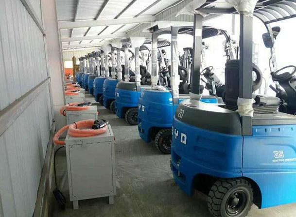 中国货运航空公司使用比亚迪叉车案例